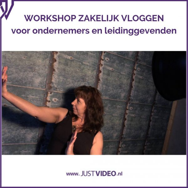 Workshop zakelijk vloggen - Just Video - productfoto